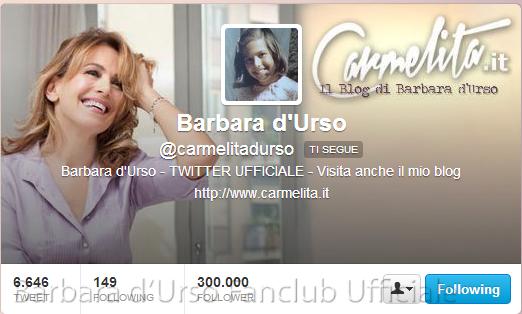 Barbara d Urso  carmelitadurso  su Twitter