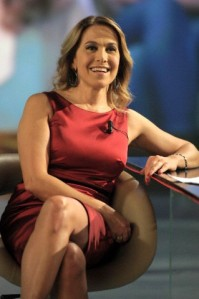 Stars filming the TV Show 'Le Invasioni Barbariche' on the LA7 Channel in Italy